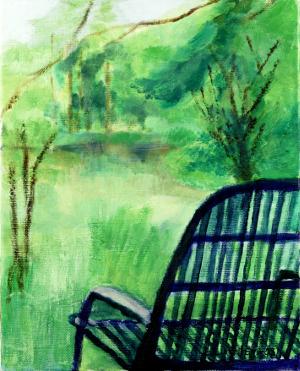Tuoli ruohikolla, 50 x 40 cm, 2003
