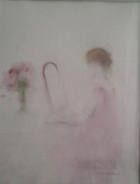 nuori nainen peilin edessä
